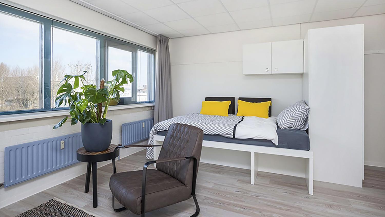 Camelot Leiden woon- slaapkamer 1